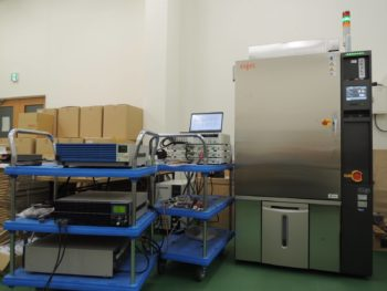 恒温状態で試験ができる専用の検査設備の配備